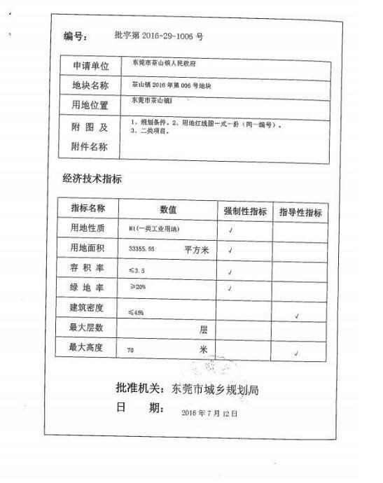 东莞土地ope手机客户端50亩红本工业土地ope手机客户端